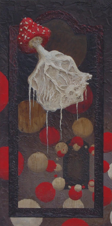 Textured Wall Art - Mycellium Acrylic Painting
